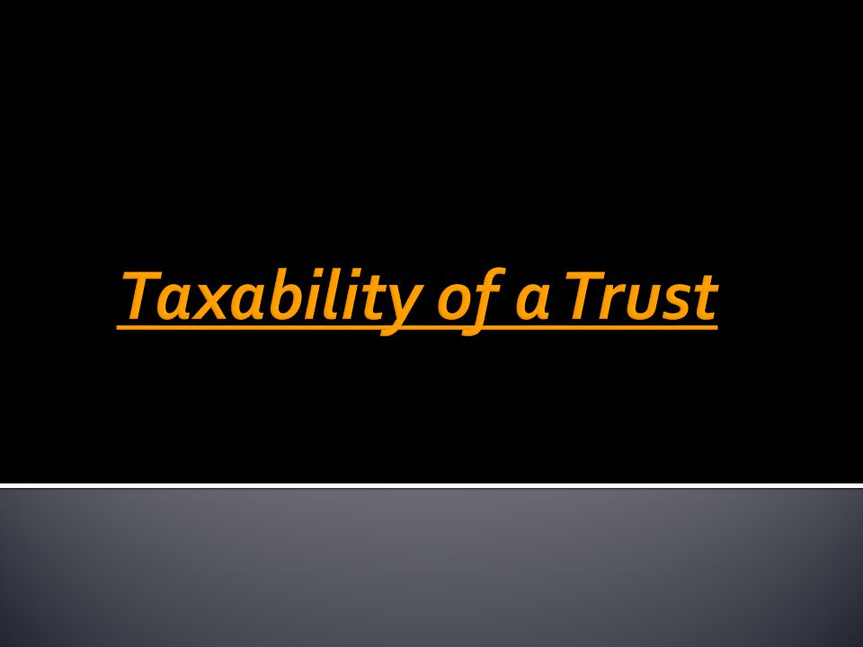 Sources of Income U/S Tax Rates Voluntary Contributions (being corpus donations) 11(1)(d)Exempt Income not applied / accumulated to the extent > 15% 11(1)(a) AOP Rate Income received on 31 st March carried forward to next year for utilization but not utilized in that next year [Explanation 2(b) to Section 11(1)(d)] 11( 1B) AOP Rate Income accumulated u/s 11(2) is not invested / utilized / donated to another trust 11(3) AOP Rate Excess Business Income as assessed by the AO 11(4) AOP Rate Income derived u/s 13(1)(a) & 13(1)(b) AOP Rate Income derived u/s 13(1)(c) & 13 (1)(d) MMR Anonymous Donations u/s 115BBC 30% 145