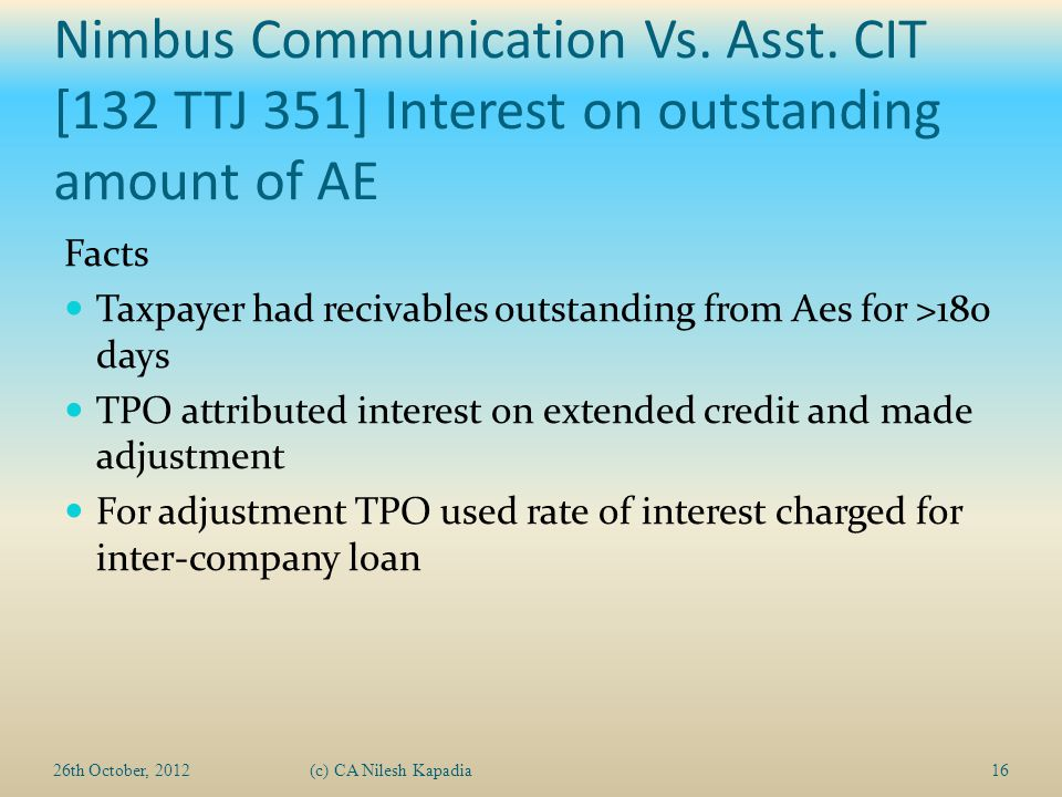 Nimbus Communication Vs. Asst.