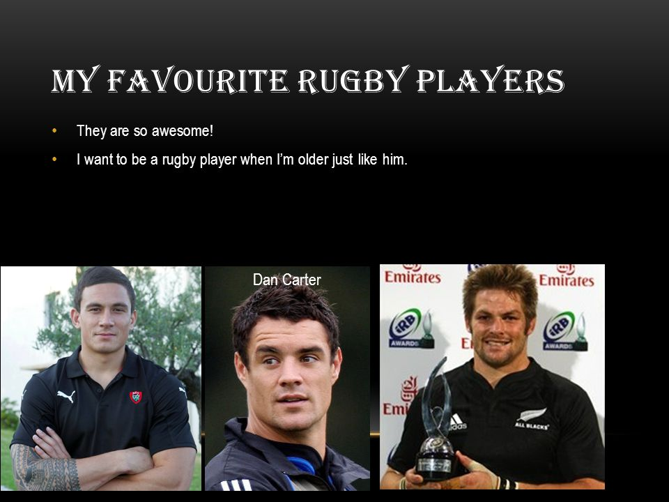 MY FAVOURITE RUGBY PLAYERS They are so awesome.