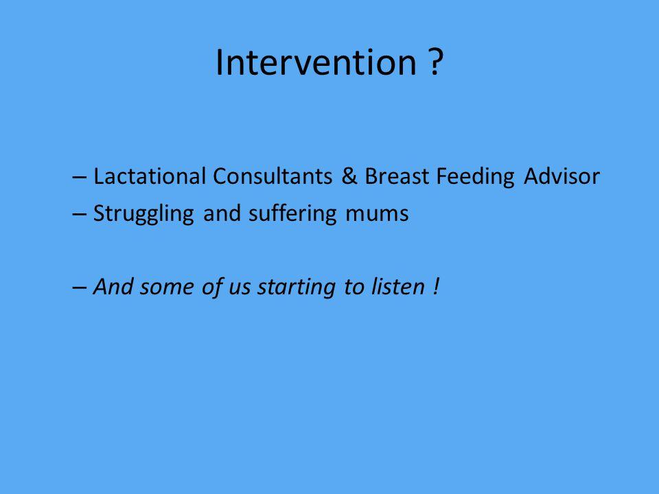 Intervention .