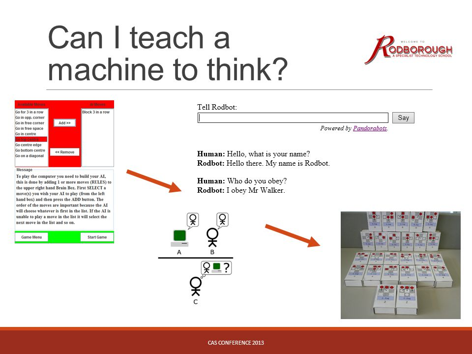 Can I teach a machine to think? CAS CONFERENCE 2013