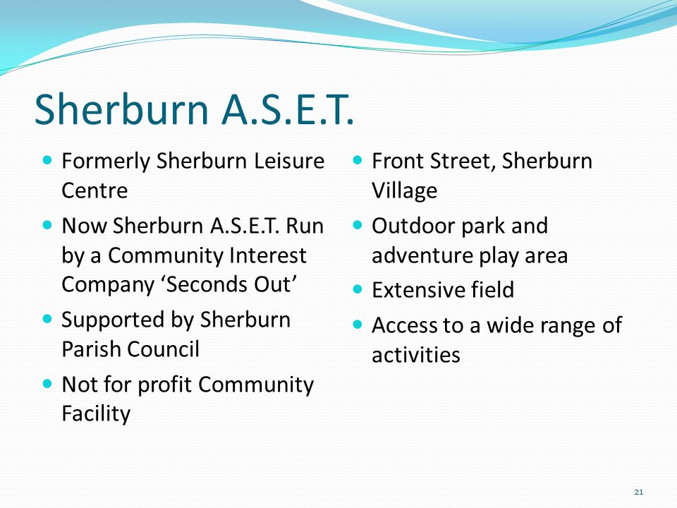 Sherburn A.S.E.T. Formerly Sherburn Leisure Centre Now Sherburn A.S.E.T.
