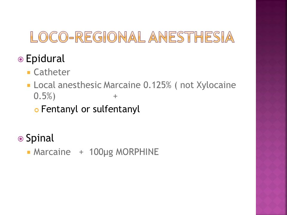  What is it. Loco-regional anesthesia or iv opiods (remifentanyl)  Who does perform it.