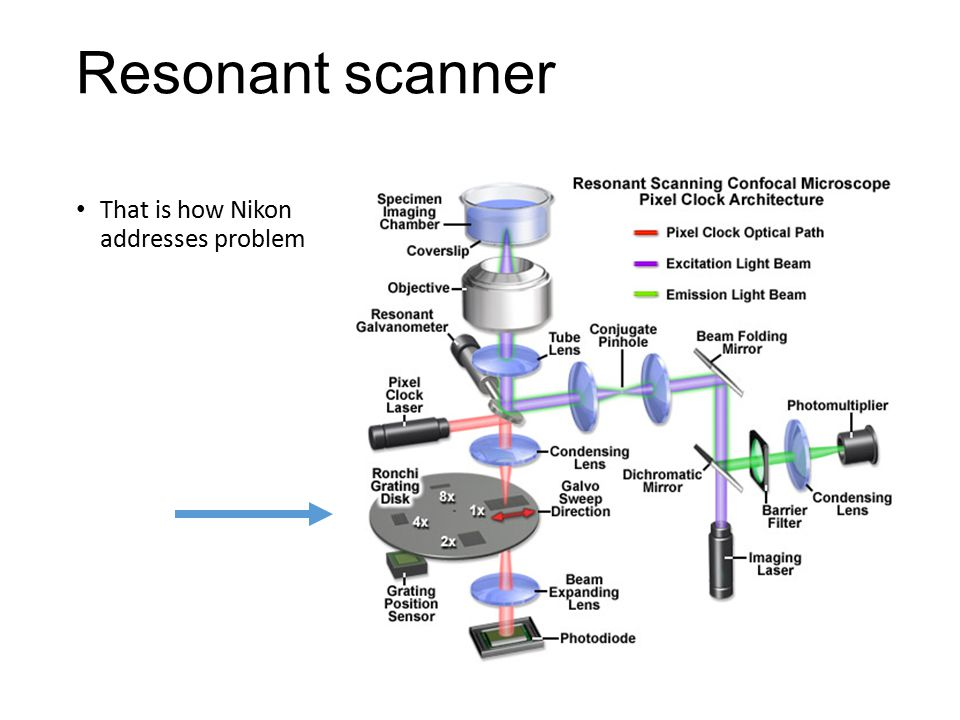 Resonant scanner That is how Nikon addresses problem