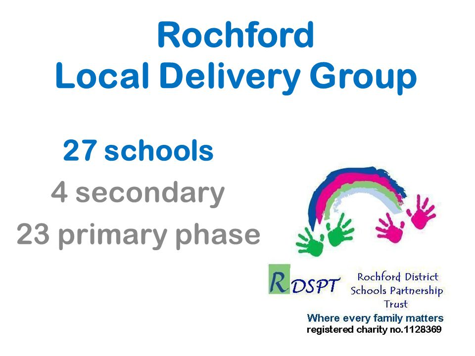 Rochford Local Delivery Group 27 schools 4 secondary 23 primary phase