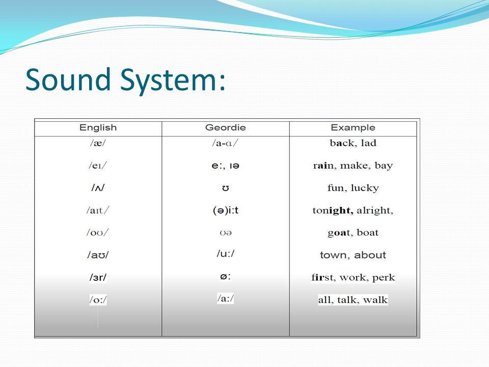 Sound System: