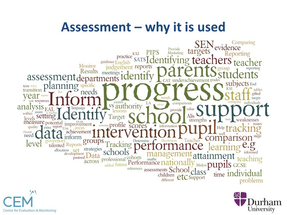 Assessment – why it is used