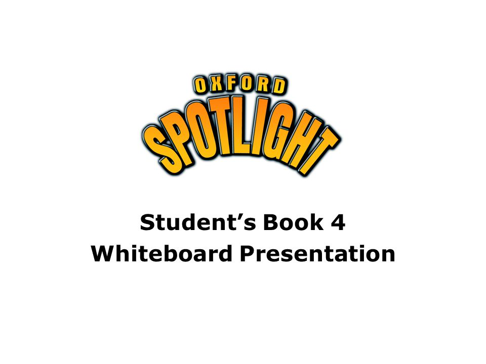 Student's Book 4 Whiteboard Presentation