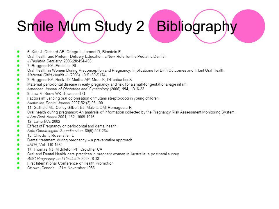Smile Mum Study 2 Bibliography 6.