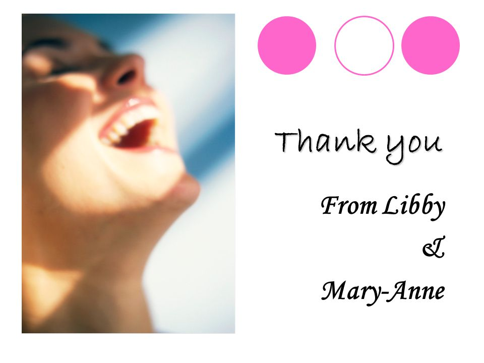 Thank you From Libby & Mary-Anne