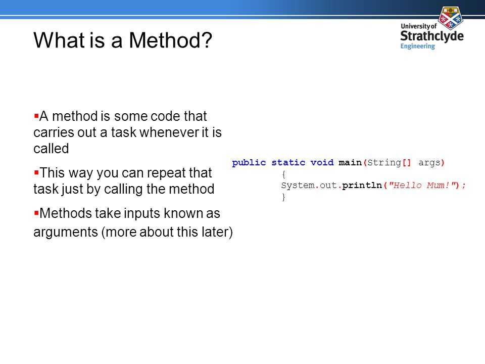 What is a Method.
