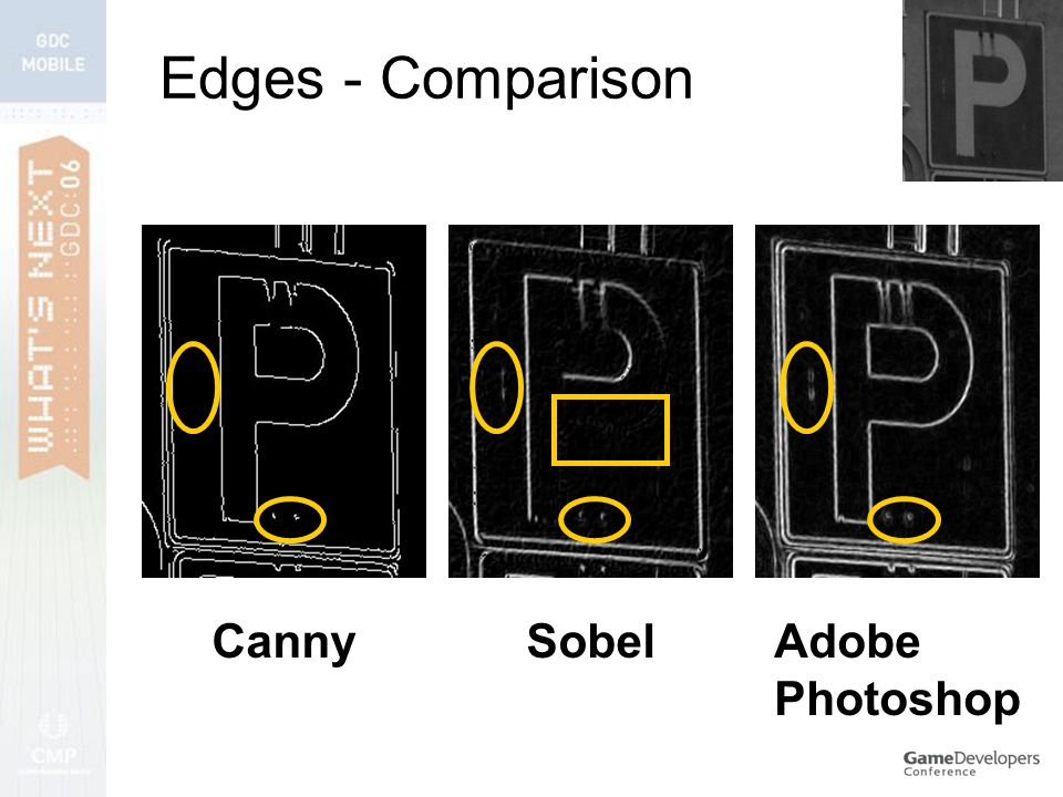 Edges - Comparison CannySobelAdobe Photoshop