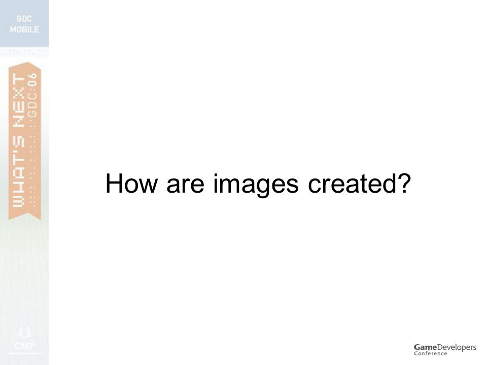 How are images created