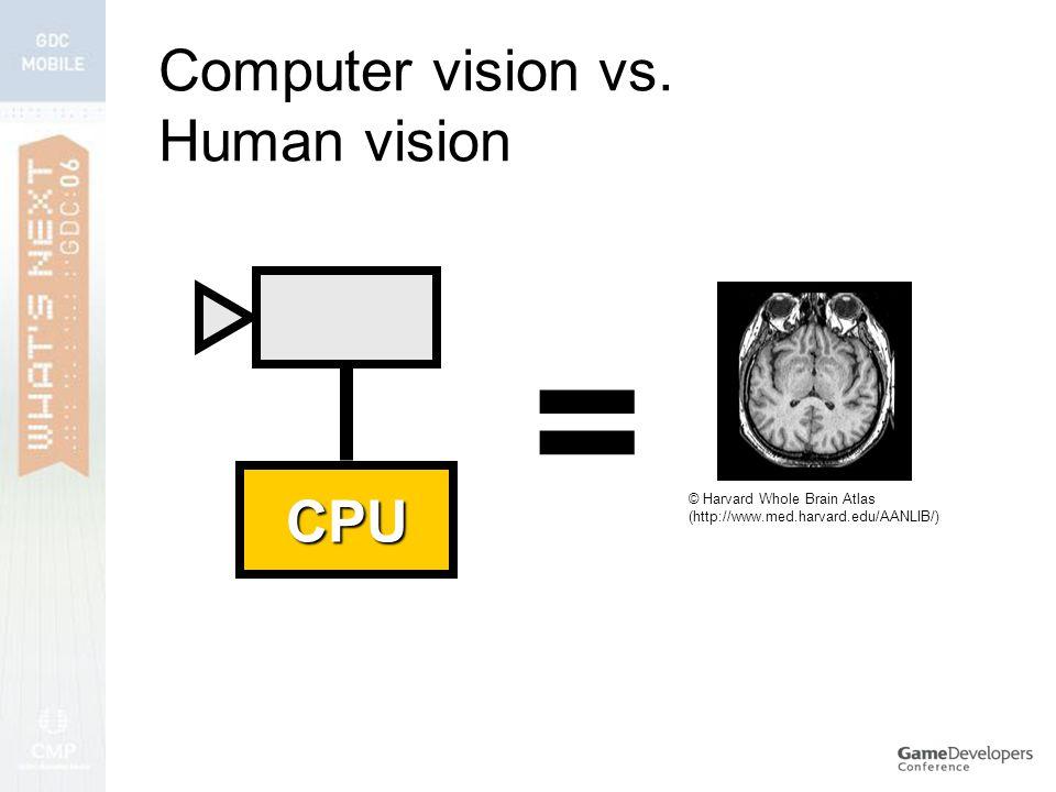 Computer vision vs.