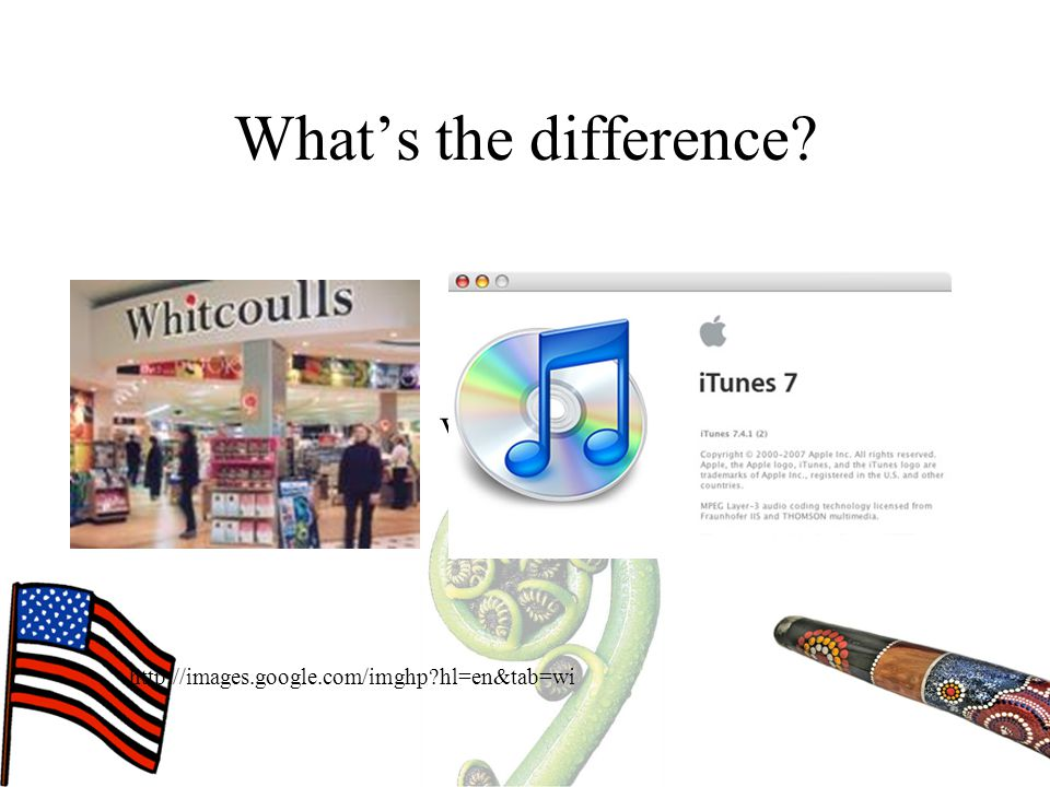 What's the difference? http://images.google.com/imghp?hl=en&tab=wi Vs.