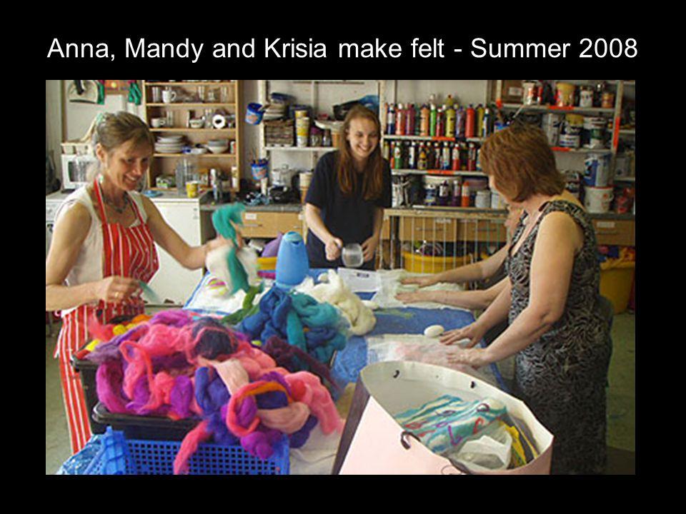 Anna, Mandy and Krisia make felt - Summer 2008
