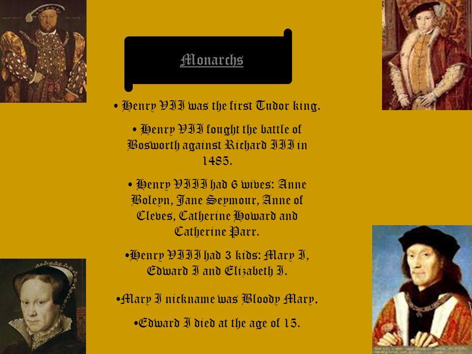 Elizabeth I is the last Tudor monarch.