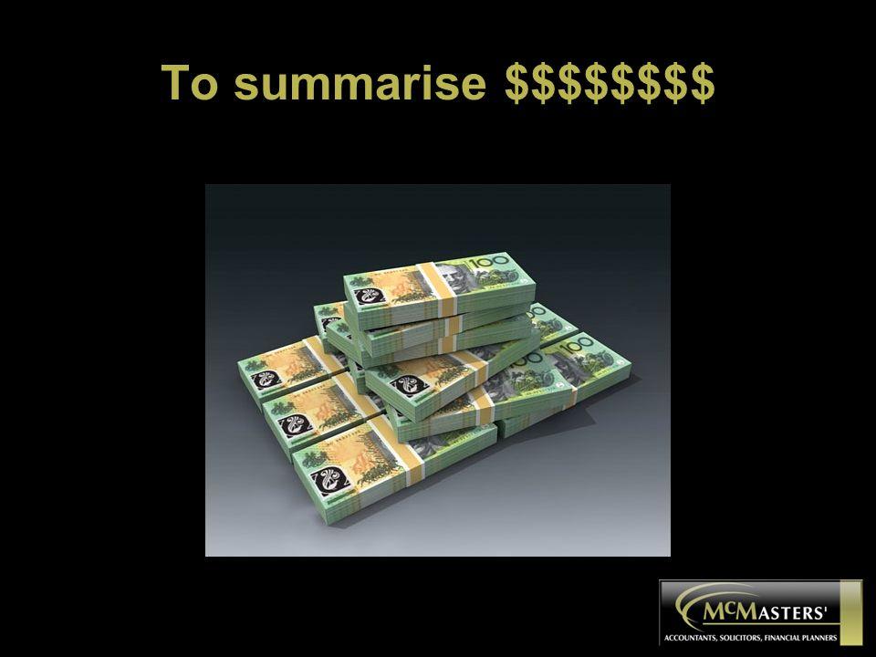 To summarise $$$$$$$$