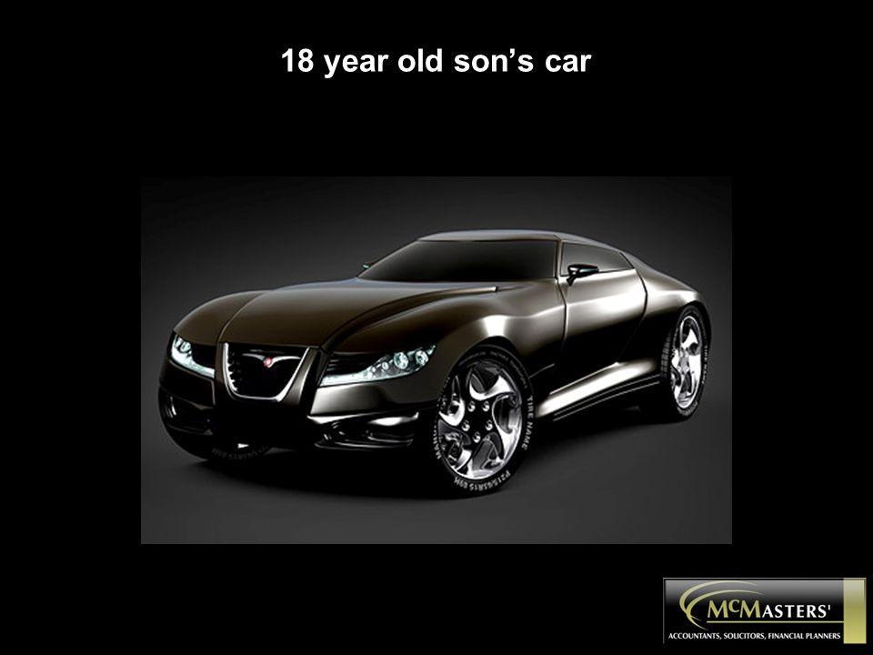 18 year old son's car