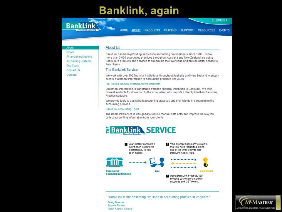 Banklink, again