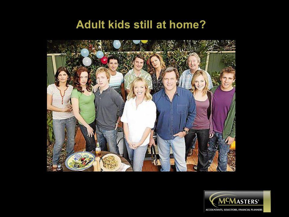 Adult kids still at home?
