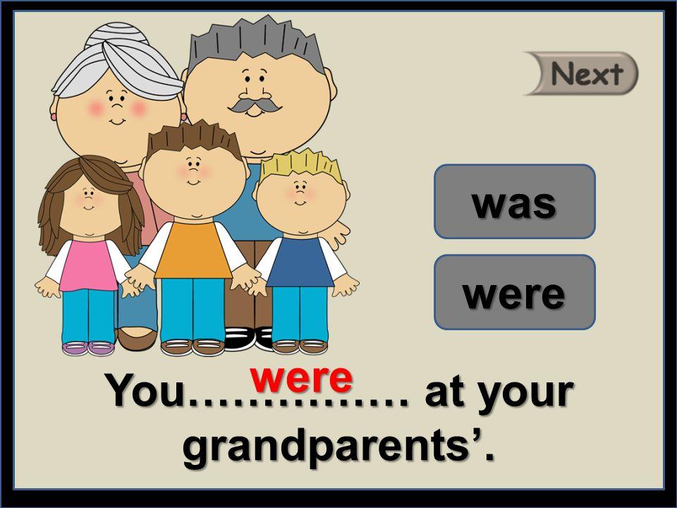 We ………… with mum. were was were