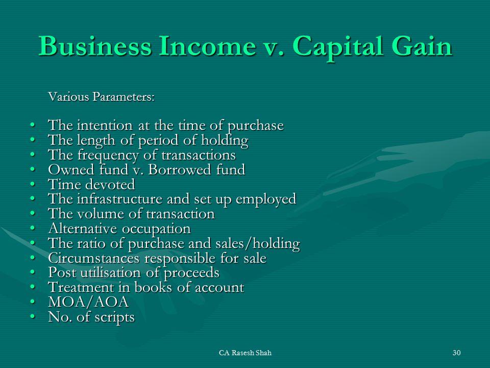 CA Rasesh Shah30 Business Income v.