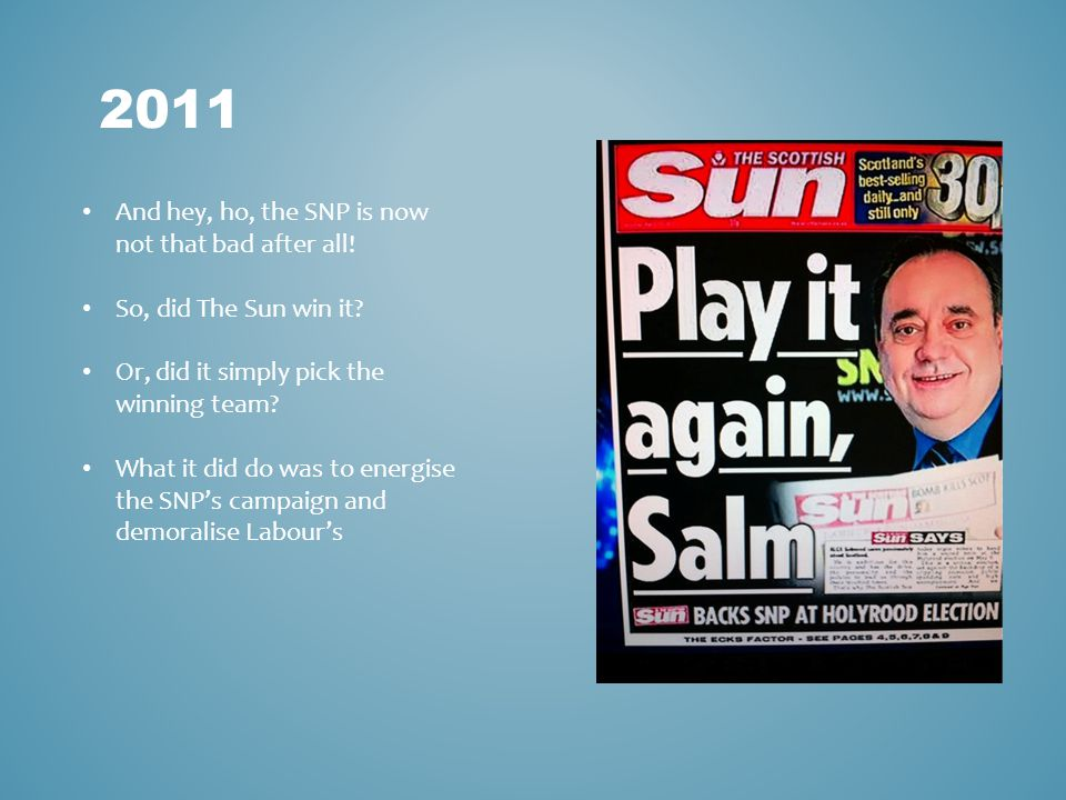 2011 And hey, ho, the SNP is now not that bad after all.