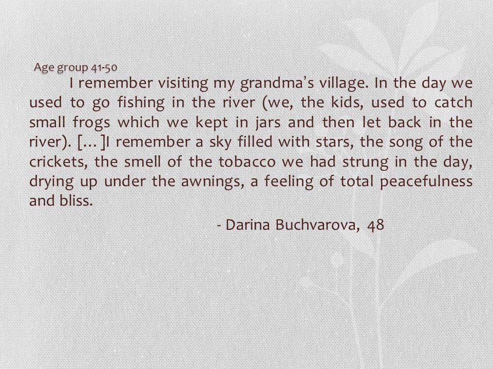 I remember visiting my grandma's village.