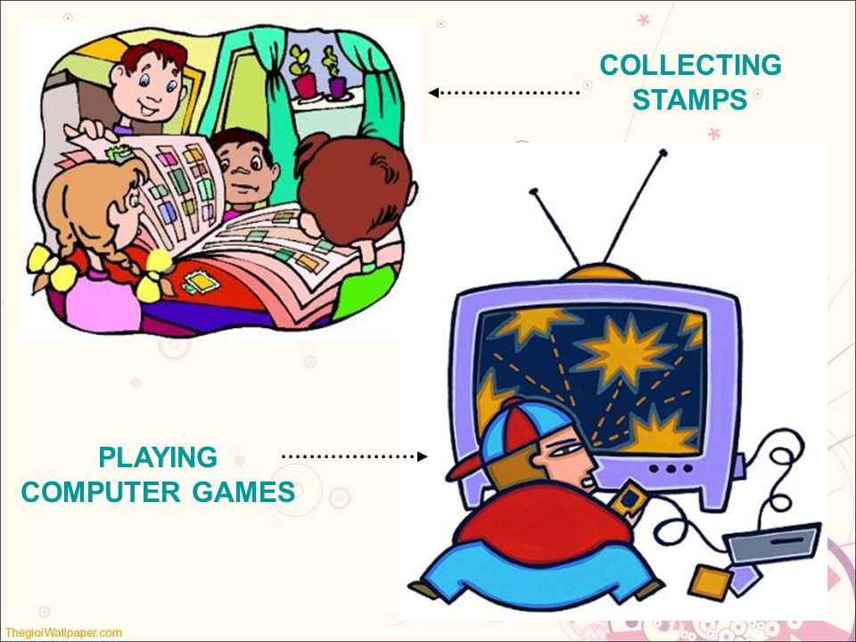 COLLECTING STAMPS PLAYING COMPUTER GAMES