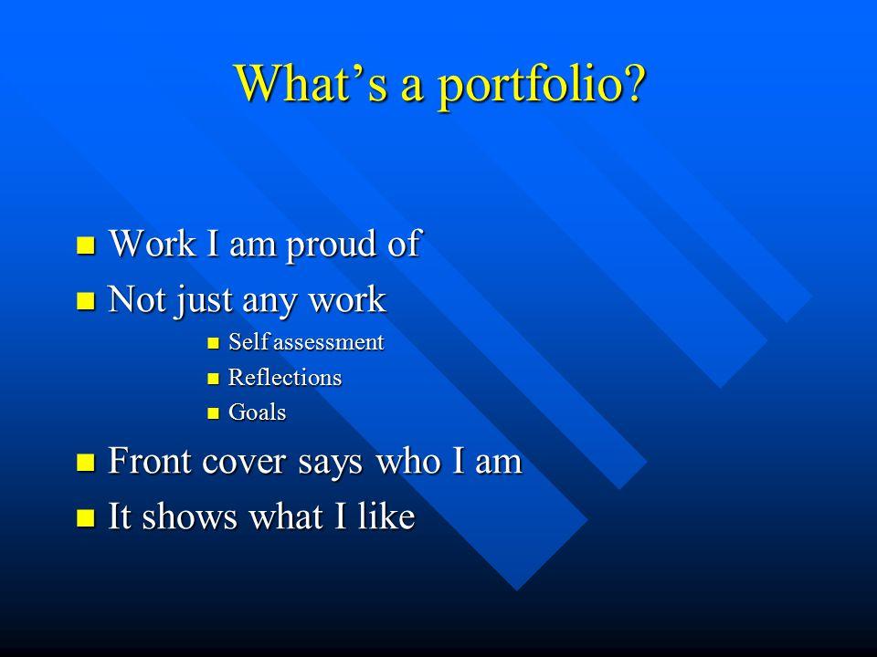 What's a portfolio.