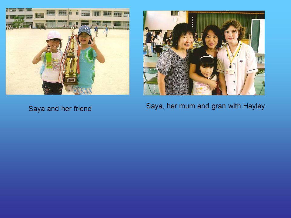 Saya and her friend Saya, her mum and gran with Hayley