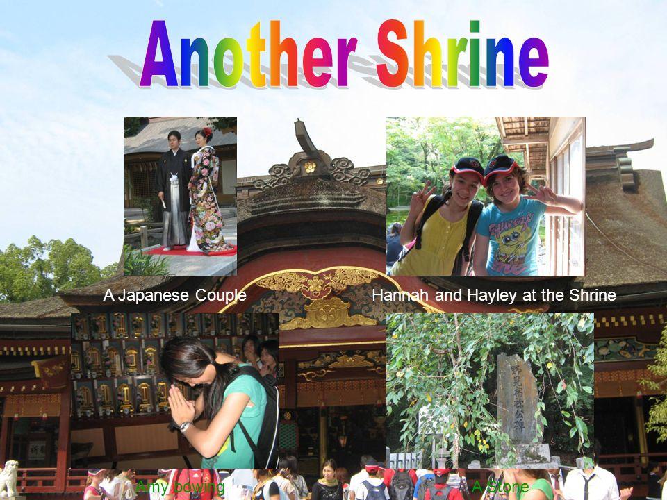 Amy bowingA Stone Hannah and Hayley at the ShrineA Japanese Couple