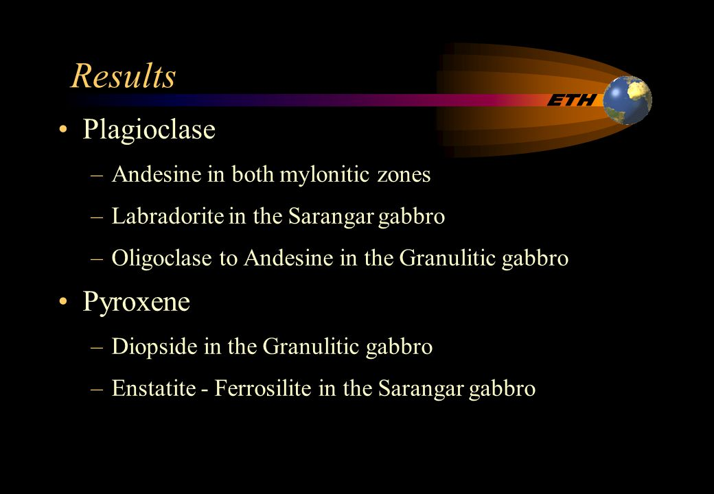 100 90 80 70 60 50 40 30 20 10 100 90 80 70 60 50 40 30 20 10 100 90 80 70 60 50 40 30 20 10 Almandine + Spessartine Grossular + Andradite Pyrope + + ++ + + + + + + + % % % % % % % % % % % % % % % % % % % % % % % % % % % % ( ( ( ( ( ( ( ( ( ( ( ( ( ( ( ((( ( (( ( (( Garnet Legend Granulitic gabbro undeformed Granulitic gabbro mylonitic zone Sarangar gabbro undeformed Sarangar gabbro mylonitic zone 1 2 2 3 4 1 eclogites 2 granulites 3 amphibolites 4 epidote amphiboles (after Dobretsov et al., 1972)