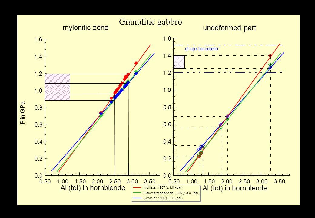 Results Amphibole –Granulitic gabbro: Hornblende (undef.