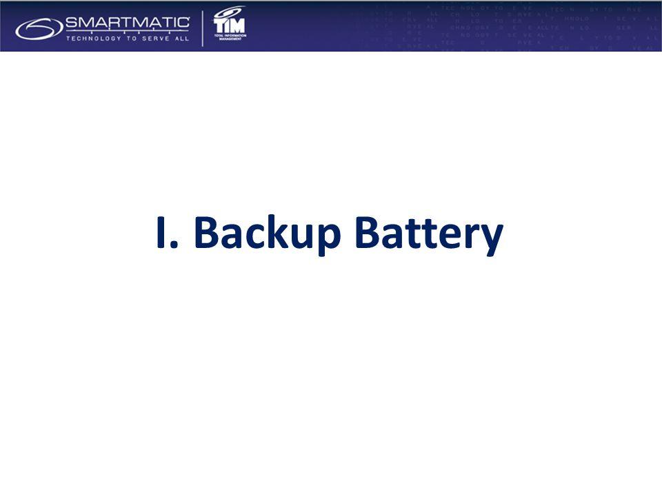 I. Backup Battery