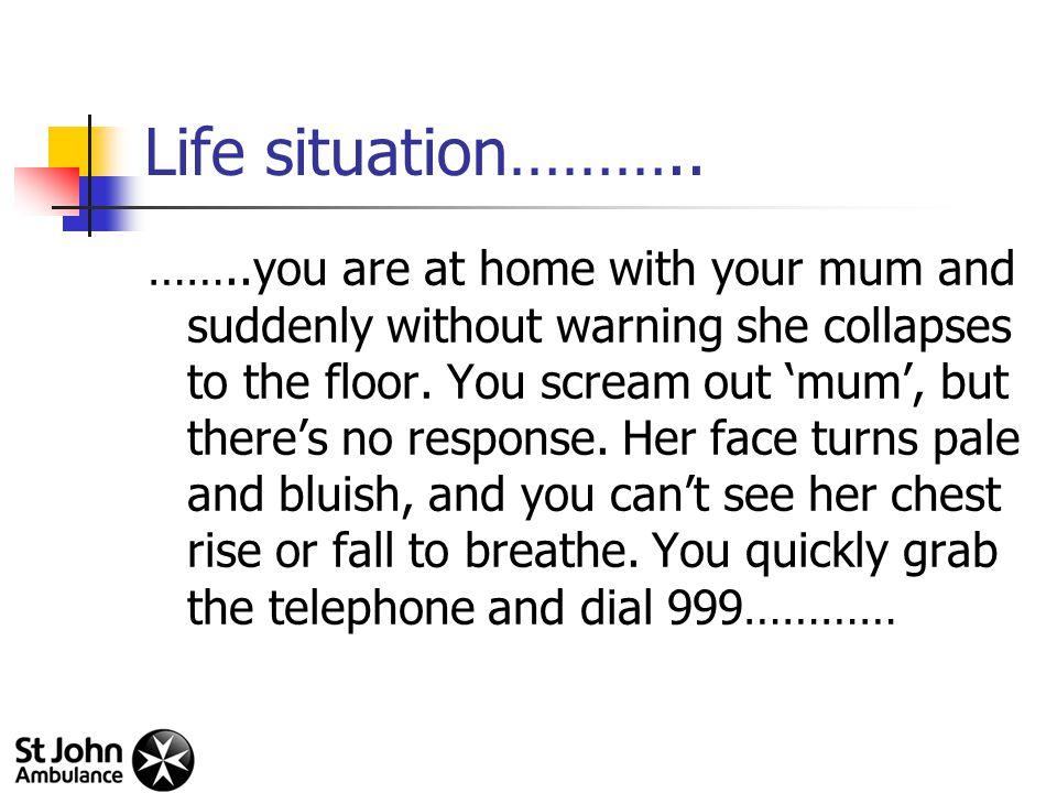 Life situation………..