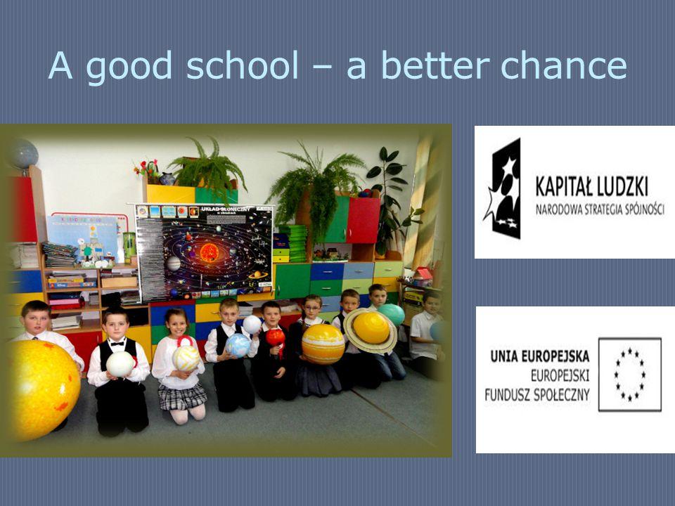 A good school – a better chance