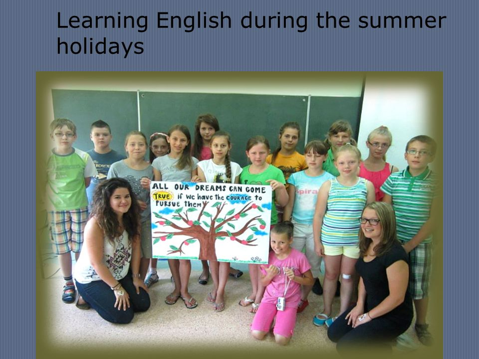 Learning English during the summer holidays