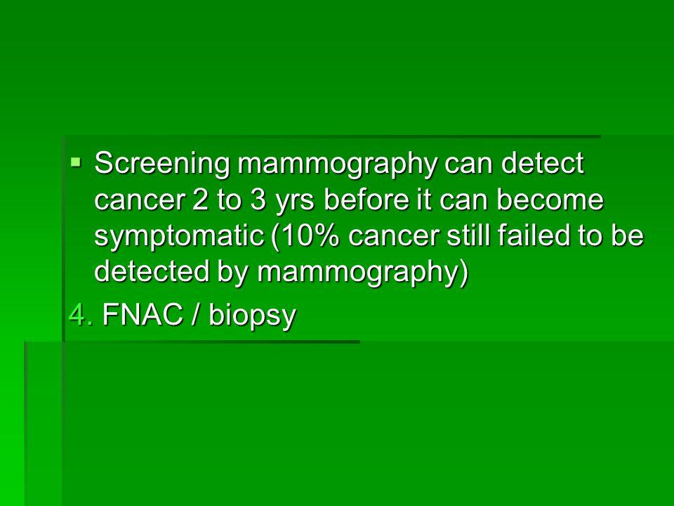 4. FNAC / biopsy