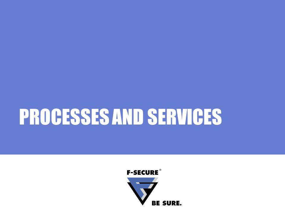 Page 4 AVCS Processes F-Secure Management Agent fameh32.exe, fch32.exe, fsih32.exe, fsnrb32.exe, fsm32.exe, fsma32.exe, fsmb32.exe, fsguidll.exe F-Secure Virus & Spy Protection fsav32.exe, fsaw.exe, fsgk32.exe, fsgk32st.exe, fsdfwd.exe, fsqh.exe, fsrw.exe, fssm32.exe F-Secure Automatic Update Agent fsbwsys.exe, F-Secure Automatic Update.exe