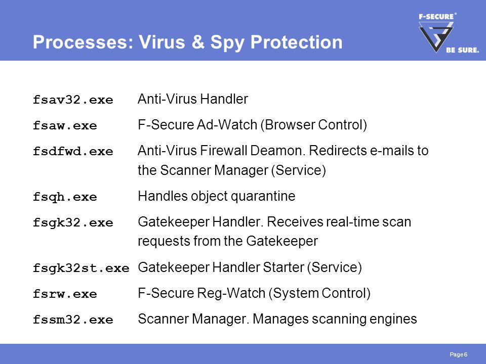 Page 17 Manual Scan: Virus vs.