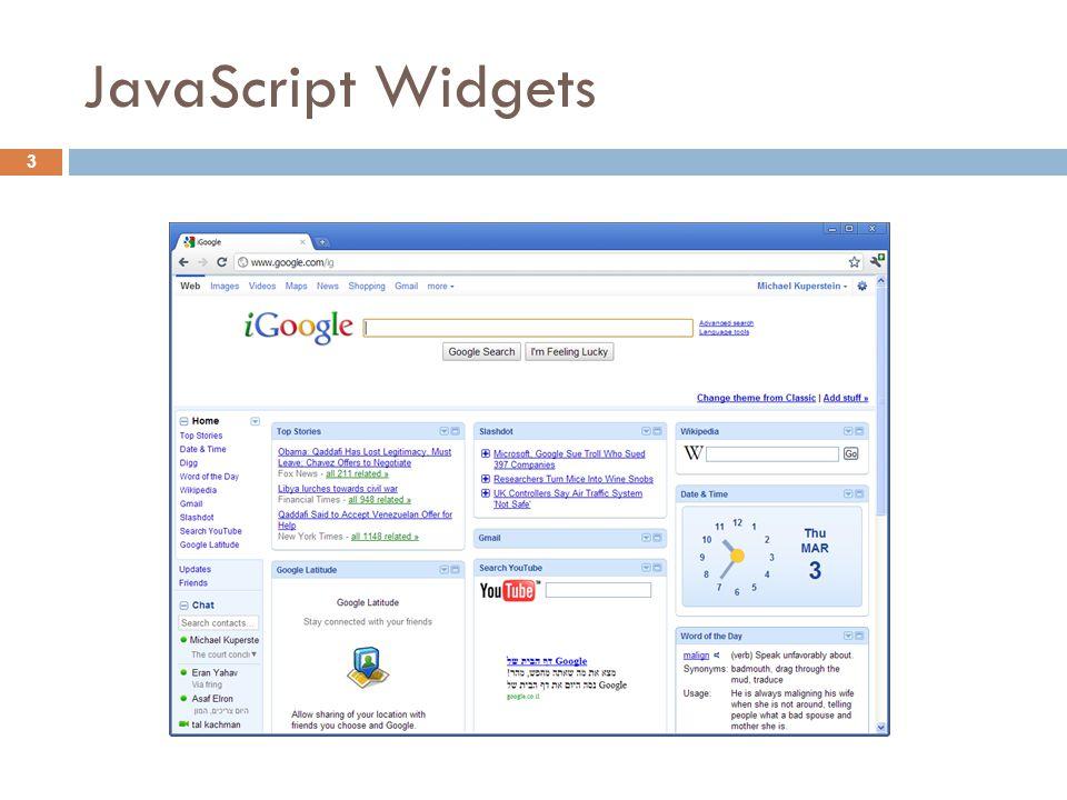 JavaScript Widgets 3