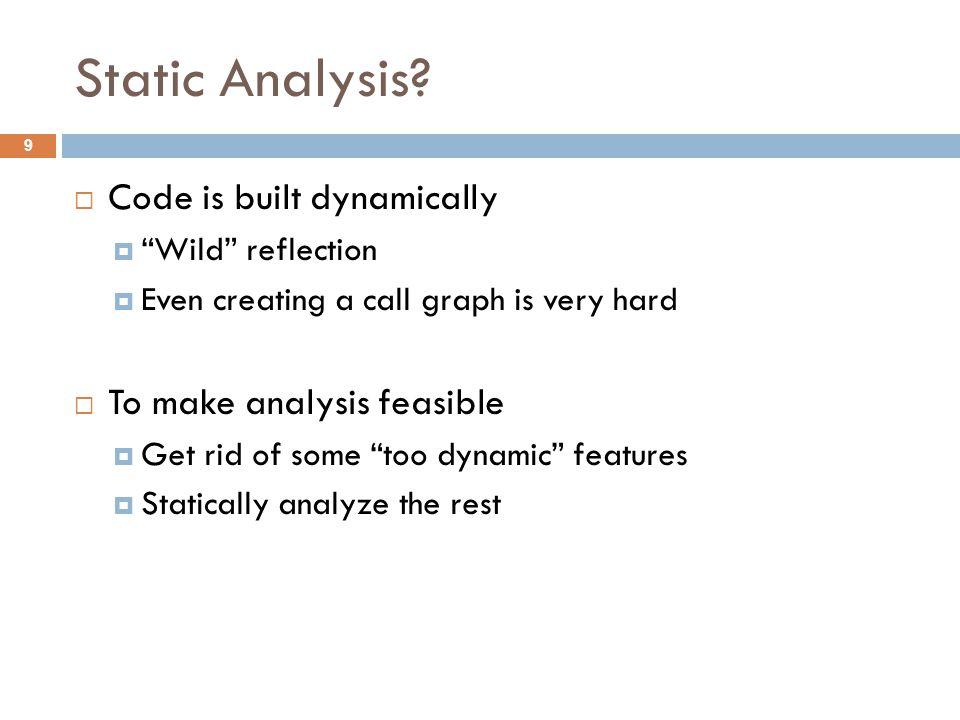 Static Analysis.
