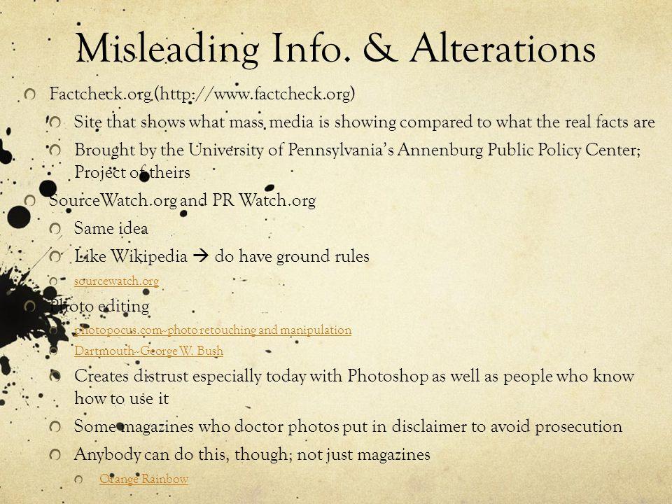 Misleading Info.