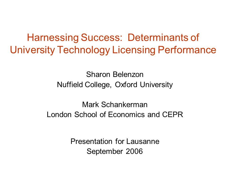 Nonparametric estimation: licensing income and licenses executed Bootstrapped standard errors are in brackets.