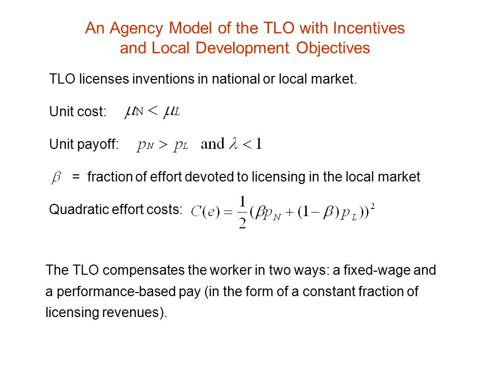 There is a divergence of interest between the TLO and the worker.