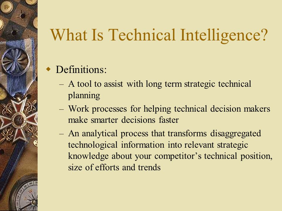 Ad-hoc Team Approach to TI  Impact the Business – Delivers message using: Specific, focused charts, graphs and presentations Detailed visualizations Buy-in from subject matter experts – Focused on business need – Knowledge is shared – Collective effort of many experts – TI team is a corporate resource