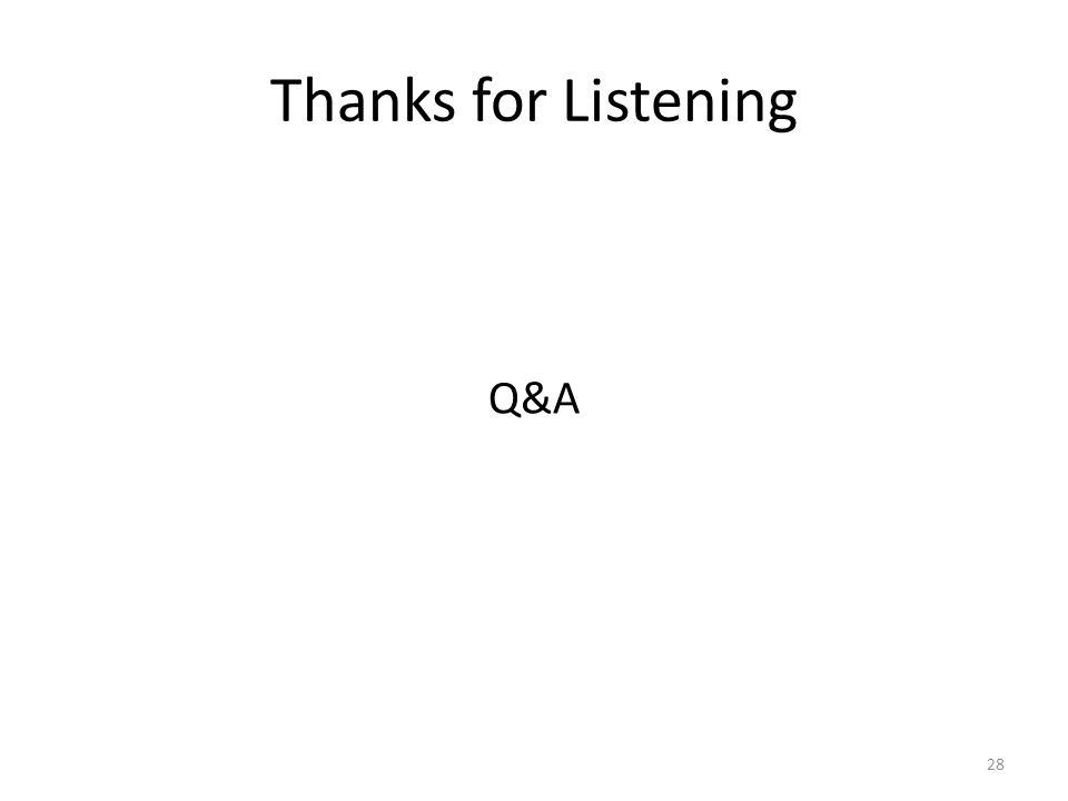 Thanks for Listening Q&A 28