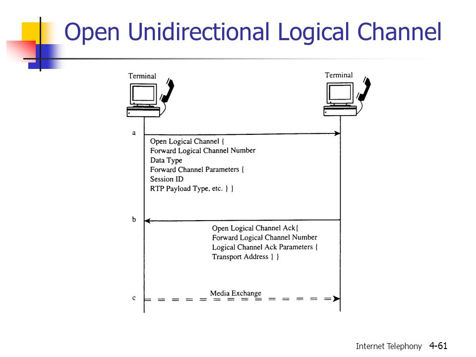 Internet Telephony 4-61 Open Unidirectional Logical Channel